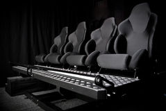 Armchair in cinema 3d. In black Royalty Free Stock Image