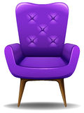 Armchair. Close up luxury design of purple armchair Royalty Free Stock Photography