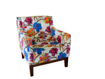 Armchair with colorful ornament Royalty Free Stock Photography