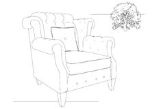 Armchair and crown Royalty Free Stock Image