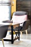 Armchair,cushion,table Stock Images