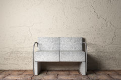 Armchair. 3D rendering of an uncomfortable stone armchair Royalty Free Stock Images