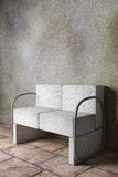 Armchair. 3D rendering of an uncomfortable stone armchair Royalty Free Stock Photos