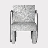 Armchair. 3D rendering of an uncomfortable stone armchair Royalty Free Stock Image