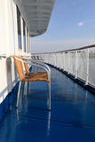 Armchair on a deck of ship Royalty Free Stock Image
