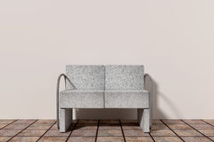 Armchair. Design in 3d of an uncomfortable stone armchair Stock Photography