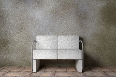 Armchair. Design in 3d of an uncomfortable stone armchair Stock Photo