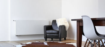 Armchair destroyed by a cat Royalty Free Stock Images