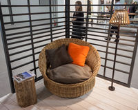 Armchair on display at HOMI, home international show in Milan, Italy Stock Photos