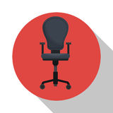 Armchair element office icon shadow Stock Images