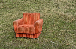 Armchair in the field Stock Image
