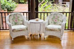 Armchair furniture style vintage Royalty Free Stock Photos