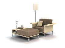 Armchair furniture on white Stock Photos