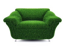 Armchair grass Royalty Free Stock Image