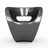 Armchair gray Royalty Free Stock Image