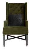 Armchair with green fabric upholstery Stock Photos