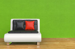 Armchair in Green Room Royalty Free Stock Photos