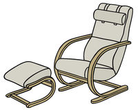 Armchair. Hand drawing of a relaxing armchair Royalty Free Stock Photography