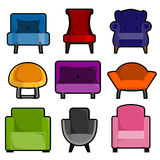 Armchair icon set  Stock Photography