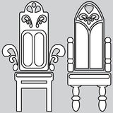 Armchair icons isolated on gray Royalty Free Stock Photos