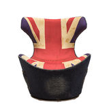 Armchair isolated. Jeans britisj flag Stock Photo