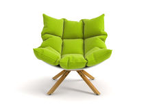 Armchair isolated on white background 3D rendering. Armchair isolated white background 3D rendering Royalty Free Stock Photo