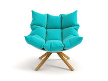 Armchair isolated on white background 3D rendering. Armchair isolated white background 3D rendering Royalty Free Stock Images