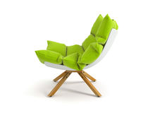 Armchair isolated on white background 3D rendering. Armchair isolated white background 3D rendering Royalty Free Stock Image