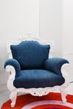 Armchair with a jeans fabric Stock Photo