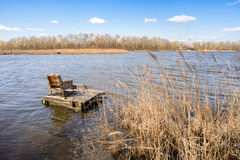 Armchair on the Lake Royalty Free Stock Photography