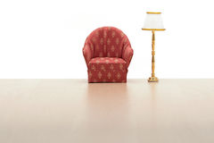 Armchair with lamp Royalty Free Stock Photography