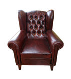 Armchair leather Stock Photography