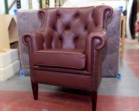 armchair leather royal Στοκ εικόνες με δικαίωμα ελεύθερης χρήσης
