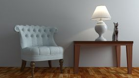 Armchair in living room Royalty Free Stock Photo