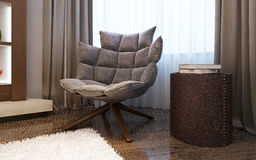 Armchair in living room modern style Royalty Free Stock Photography