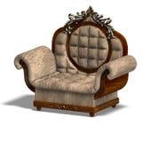 Armchair of louis xv. vector illustration