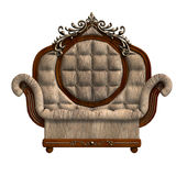 Armchair of louis xv. Stock Photos