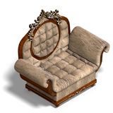 Armchair of louis xv. Stock Photography