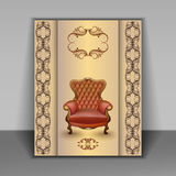 Armchair luxury furniture item Royalty Free Stock Photos