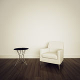 Armchair in modern comfortable interior Royalty Free Stock Photos