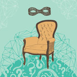 Armchair for the Mysterious Person Royalty Free Stock Photography
