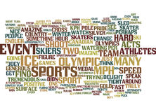 Armchair Olympian Word Cloud Concept Stock Photography