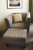 Armchair with ottoman Royalty Free Stock Photo