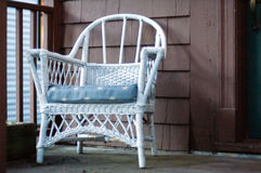 Armchair at the porch Stock Images