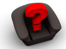 Armchair with question. Vacancy Stock Photography