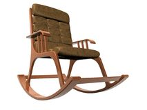 Armchair-rocking chair Royalty Free Stock Image