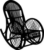 Armchair-rocking chair. Vector illustration of armchair-rocking chair royalty free illustration