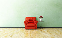 Armchair and roses Royalty Free Stock Photo