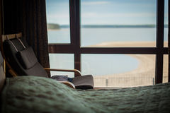Armchair with sea view Stock Image