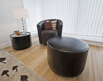 Armchair with side table Stock Photo